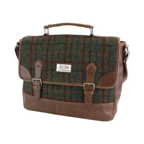 Breanais Harris Tweed PU Briefcase